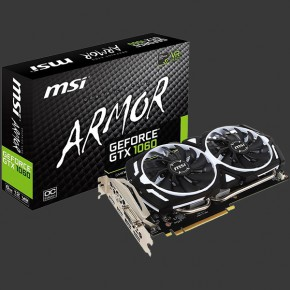MSI GeForce GTX 1060 ARMOR 6G OCV1 6GB