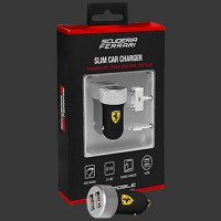 Ferrari 2-USB Car Charger 2.1Amp
