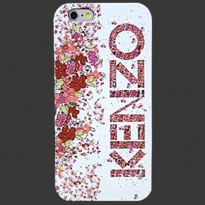 KENZO Logo in Flowers TPU Case for iPhone 6