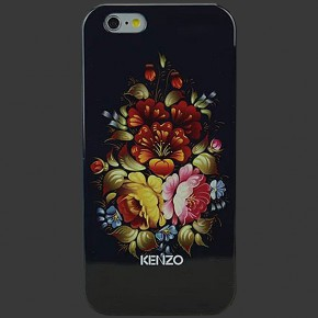 KENZO Flowers Black TPU Case for iPhone 6 Plus