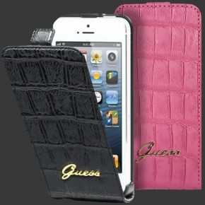 GUESS Flip Type Leather Case for iPhone 5/5S
