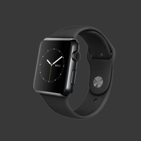 Apple Watch Stainless Steel Black Sport Band