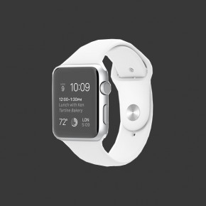 Apple Watch Sport Aluminum (White Sport Band)