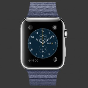 Apple Watch Stainless Steel with Leather Loop